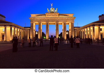 Brandenburger Tor The Brandenburg Gate 1788-1791 designed by...