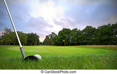 chipping golf ball onto green - chipping a golf ball onto...