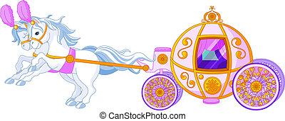 Fairytale, Cor-de-rosa, carruagem
