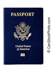US Passport - Very Clean image of a US passport on white