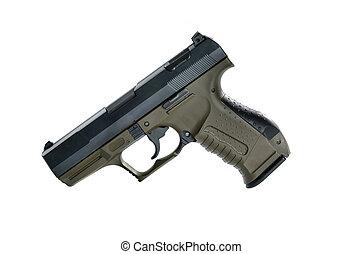 9mm handgun - Image of a9mm handgun on a white background