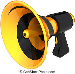 Megaphone colored yellow black