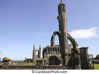 Ruins of the cathedral in St. Andrews - The ruins of St....