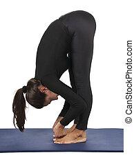 Padangusthasana (Big Toe Pose) - Yoga pose: Padangusthasana...
