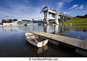 Falkirk Wheel - The Falkirk Wheel, a rotating boat lift...