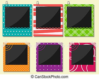 Photo frame set - Vector photo frame set