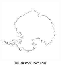 Blank Antarctica Map - Blank Antarctica map in orthographic...
