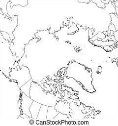 Blank Arctic Ocean Map - Blank Arctic Ocean regional map in...