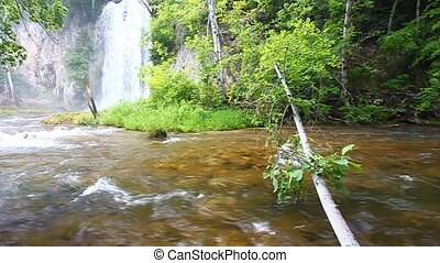 Spearfish Falls - South Dakota - Spearfish Falls flows...