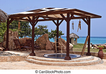 Spa in the Caribbean.