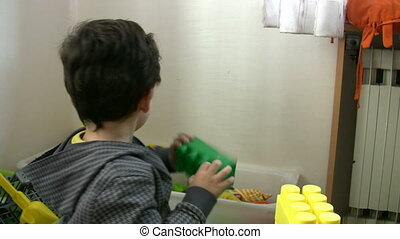 Little Boy playing toys