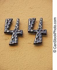 casa, numero, 44