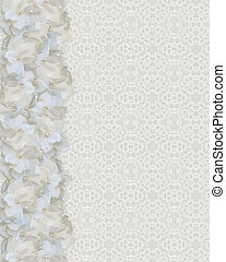 Lace and gardenia wedding border - Lace and gardenia flowers...