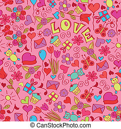 St valentines seamless pattern EPS 8 RGB global color...