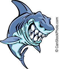 Shark Mascot Cartoon Image - Cartoon Image of a Shark Body...