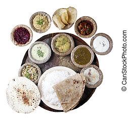 sur, indio, comidas, Recorte, mA