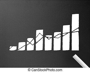 Chalkboard - Business Graph