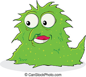 Virus Bacteria - Vector illustration of a strange creature