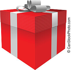 gift box  with bow. Vector illustra