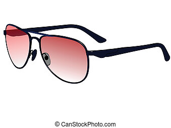 Cool Photo Realistic Blue Sunglasses Eps10 vector...