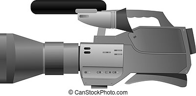 Vector illustration of film camera
