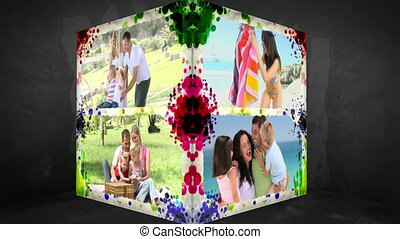 3D Animation-Cube of Family Holiday