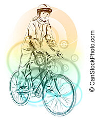 girl bicycle