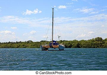 Catamaran boat in Africa - Catamaran boat in Kenya Africa