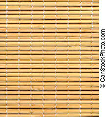 Bamboo mat as a background
