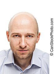 Serious man portrait - Male portrait - serious adult man...