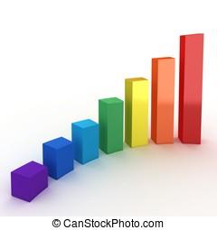 3d graph diagram bars