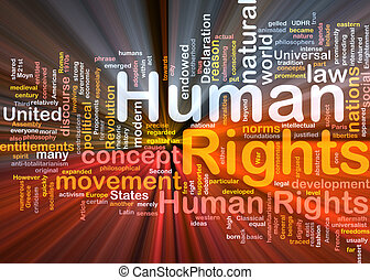 Human rights background concept glowing - Background concept...