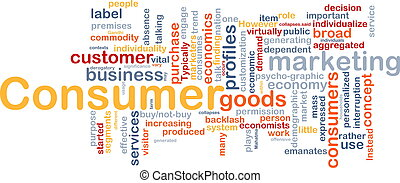 Consumer background concept - Background concept wordcloud...