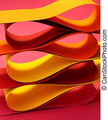Warm color arc wave forms - Warm colors palette arc wave...