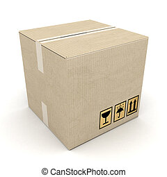 cardboard box - boxes of cardboard image on white background