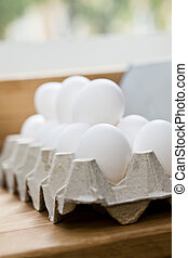 Egg Carton - Carton of eggs with short focal depth
