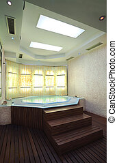 Jacuzzi - Interior of a hotel jacuzzi, modern and simple...