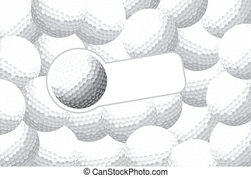 Golf background - Golf vector illustration (some balls with...
