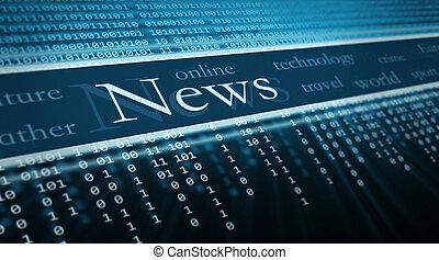 technology background, News text in perspective
