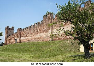 Castelfranco Veneto (Treviso, Veneto, Italy): Ancient walls...