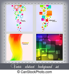 Vector abstract background set of 4