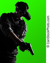 soldier with night vision goggles