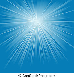 Light Rays - abstract background illustration, Vector