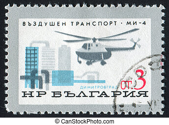 Helicopter - BULGARIA - CIRCA 1965: stamp printed by...