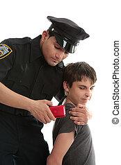 police, officier, adolescent, uvenile, délinquant