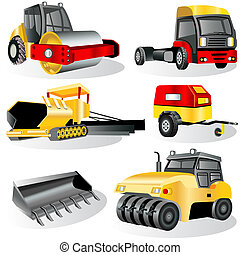 Construction icons 7 - A collection of 6 different...