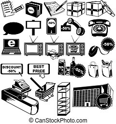 Shop pictogram icons 2 - Great collection of 24 different...