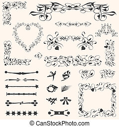 calligraphic design elements page decoration - calligraphic...