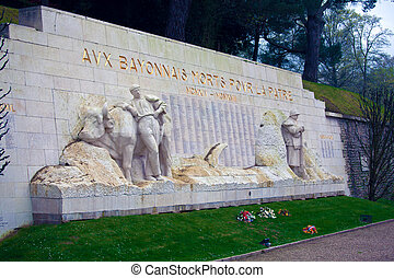 Monument of victims of First World War,  Bayonne, France