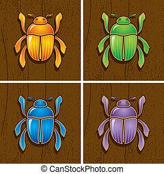 Illustrations of beetles